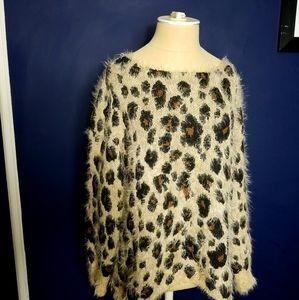 Animal Print XL Pullover
